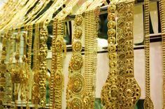 Madinat Zayed Gold Souk, Abu Dhabi, UAE. The Middle East.