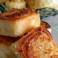 Receita de Fatias Húngaras - Receita Toda Hora Sweet Bread, I Foods, Baked Potato, Delicious Desserts, Deserts, Food And Drink, Cooking Recipes, Sweets, Breakfast