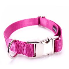 Sacred Pet Boutique : Everyday Dog Collar - 3 sizes, lots of lovely colours, engravable polished aluminium buckle.