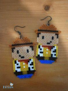 Woody Toy Story earrings hama mini beads by KarinMind on deviantART