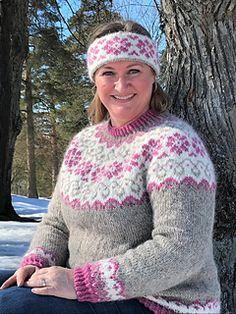Ravelry: Sundrops / Solgløtt pattern by Vanja Blix Langsrud Fair Isle Knitting Patterns, Sweater Knitting Patterns, Knit Crochet, Crochet Hats, Icelandic Sweaters, Sweater Weather, Knitting Projects, Winter Hats, Cardigans