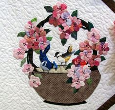 Applique Basket Quilt Block | Birds in a Basket Applique | Flickr - Photo Sharing!