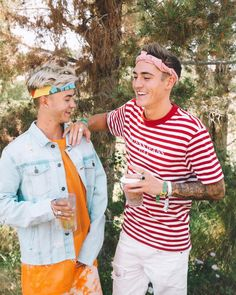 Jack Johnson and Sammy Wilk are all laughs at Coachella