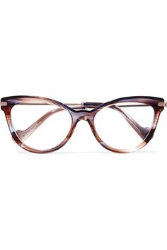 ae16e351a19 Moncler - Cat-eye tortoiseshell acetate and silver-tone optical glasses
