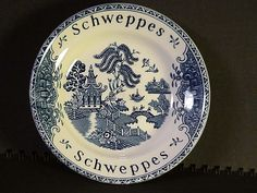 Schweppes Small Blue Willow Bowl Enoch Wedgewood Tunstall LTD England #schweppes