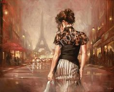 """Mark Spain """"Парижским вечером"""", картины по номерам, картины своими руками, размер 40*50 см, цена 750 руб."""