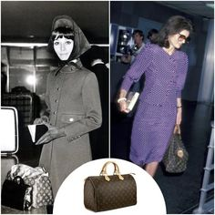 Love the LV speedy - Audrey Hepburn and Jackie Onassis