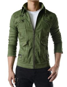Slim Fit Comfortable Stretchy Unique Trucker Jacket Limited Edition at Amazon Men's Clothing store:
