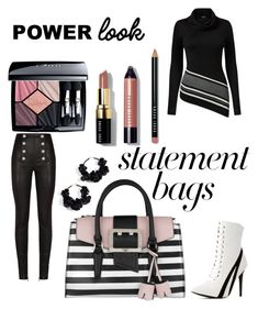 """Make A Statement.  👜"" by peacock-style on Polyvore featuring Oscar de la Renta, Venus, GUESS, Balmain, Wild Diva, Bobbi Brown Cosmetics, Christian Dior and statementbags"