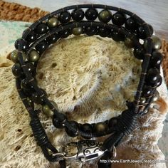 Protection & Power Tribal Wristwrap - handmade crystal energy gemstone jewellery Earth Jewel Creations Australia