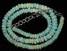 """72 Crts 1 Strands 5 to 7 mm 15"""" Beads necklace  Ethiopian Welo Opal  AA+++43964"""