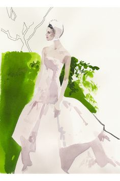 David Downton illustrates the couture shows