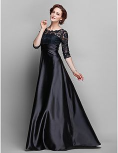 uma linha de jóias do assoalho-comprimento de cetim stretch e renda mãe do vestido de noiva (682.760) - BRL R$ 241,73