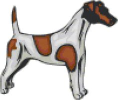 Fox Terrier Smooth Dog Breed Cross Stitch Pattern graph  pattern and tutorial instant download by AmericanPooch on Etsy