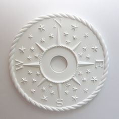 NAUTICAL DECOR- nautical compass décor ceiling medallion, baby girl beach décor, baby boy nursery décor, nursery, nursery art, sailboat décor, beach décor. Marie Ricci™ is proud to offer many unique and elegant nursery art pieces that are perfect for your new addition~ NOTE: First compass image W & E placement is Decorative design, this will NOT show true east and west. ACTUAL, the second image E & W placement, WILL show true east and west direction once on the ceiling. Let me know wh...