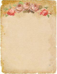 Красивые листики для писем или скрапбукинга