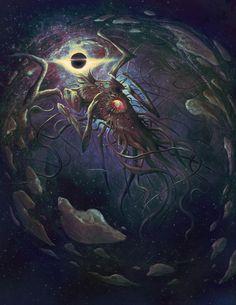 Azathoth by Jason Engle Arte Horror, Horror Art, Android Art, Eldritch Horror, Lovecraftian Horror, Arte Obscura, Call Of Cthulhu, Fantasy Monster, My Demons