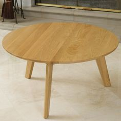 Have to have it. Russert Solid Oak Coffee Table - Oak - $128.98 @hayneedle.com