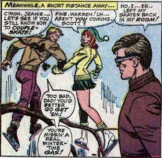 Warren Worthington III, Jean Grey, and Scott Summers. (Uncanny X-Men Vol.1 #29)