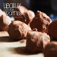 Healthy chocolate pralines