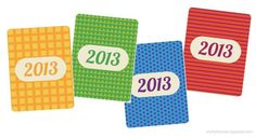 2013 Primary Color Printable Cards for Project Life   [ One Velvet Morning ]