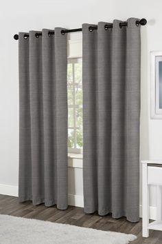 Exclusive Home Matka Faux Silk Textured Grommet Top Panels, Black Pearl, Set of 2 Exclusive Home http://smile.amazon.com/dp/B00G24T694/ref=cm_sw_r_pi_dp_h7USub0S8BVSK