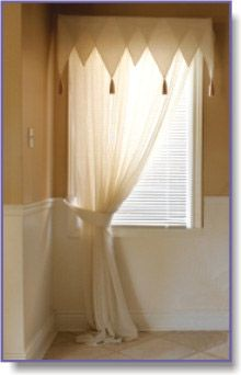 One Panel Curtain For Small Window Love The Curtain Rod Does This Exist Somewhere Curtains And Decor Pinterest Small Windows Panel Curtains And
