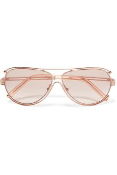 Aviator-style Gold-tone Sunglasses - Pink Chloé 8bmAwF