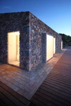 Seaside single house, Monte Argentario, 2011 by modostudio #architecture #italy #tuscany #stone #landscape