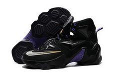 wholesale dealer 6f217 54e78 Nike Lebron Xiii(13) Black Purple Sneakers Outlet