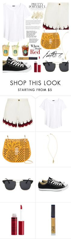 """short!"" by dadienoke-bhatosay ❤ liked on Polyvore featuring Chloé, H&M, Lilly Pulitzer, Converse, Charlotte Russe, Winky Lux and Topshop"