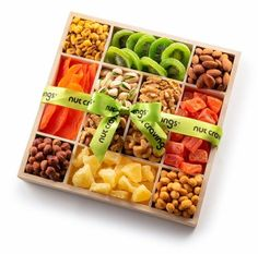 Dry Fruit Tray, Dried Fruit, Wood Gift Box, Wood Gifts, Gourmet Gifts, Fruit Hampers, Mixed Nuts, Pretzel Snacks, Glazed Pecans