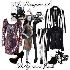 """A Masquerade: Sally and Jack"" by helsingmusique on Polyvore"