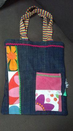 Creando con las manos: Bolsos de tela.... reversibles
