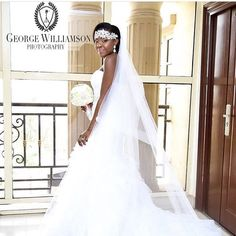 Good morning Nigeria!  @blackbarbienow looking all shades of beautiful in her dress.  Photo by @georgewilliamsonphotography #MOADE2015 #bride #bridal #bridalinspiration #weddings #weddinginspiration
