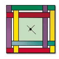 Free Pattern, Plaid Clock