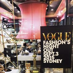 Vogue's Fashion Night Out Sydney, September, 2015 QVB Flag Store