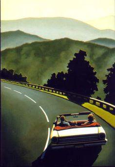 possibilities lie in dangerous mountain curves - looks a bit 90s to me? (R. Kenton Nelson)