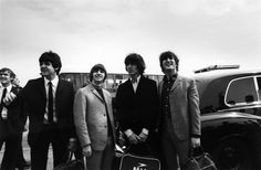 The Beatles at London Airport on their way to New York to commence their US tour, 13th August 1965