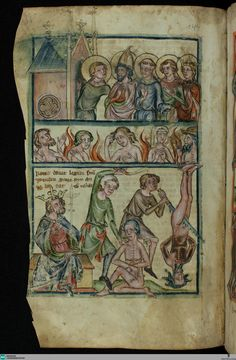 Handschriften / Speculum humanae salvationis... [148] 14th Century, Cod, Painting, Karlsruhe, Handwriting, The Last Song, Cod Fish, Painting Art, Paintings