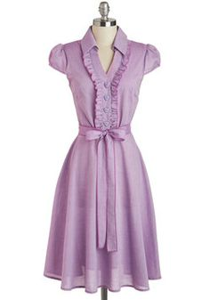 About the Artist Dress in Lilac, #ModCloth