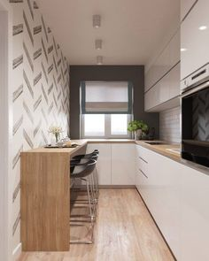 10 Layouts Perfect for Your Tiny Cooking area Small Kitchen Remodel area Cooking kitchencabinetskitchendesignkit Layouts Perfect Tiny Narrow Kitchen, Cute Kitchen, New Kitchen, Kitchen Small, Minimal Kitchen, Compact Kitchen, Kitchen Reno, Tiny Cooking, Cooking Tips