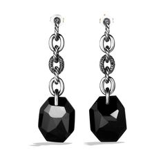 DY Collection Drop Earrings with Black Onyx and Black Diamonds