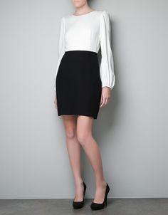 TWO-TONE DRESS - Dresses - Woman - ZARA Canada