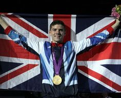 Luke Campbell with his Men's Boxing Bantam 56kg gold medal.