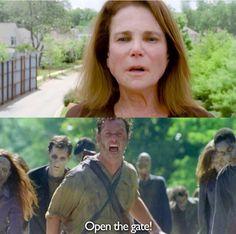 Deanna and Rick. The Walking Dead Season 6 Episode 5
