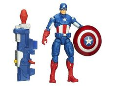 #transformer captain america super soldier gear figures series 01 - shockwave blast captain america