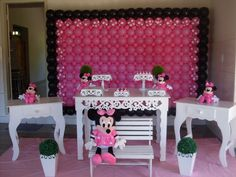 Babaloo Festas: festa da minie rosa