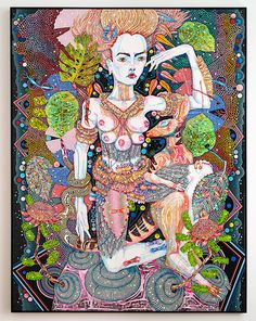 Del Kathryn Barton - of pink planets - Roslyn Oxley9 Gallery