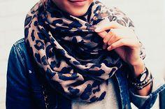 Leopard scarf.